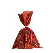 Embalagem Saco Metalizado Vermelho 20x29cm (c/ 50 pc) (Com 50 unidades)