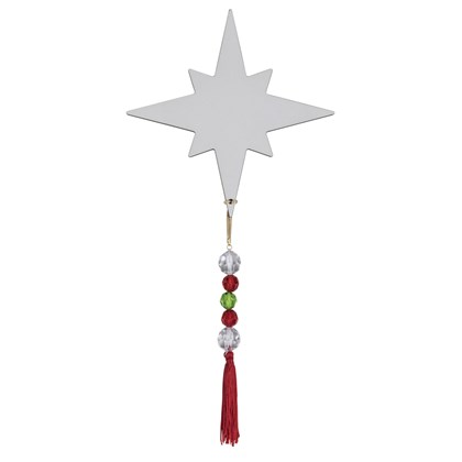 Enfeite De Porta E Árovre Estrela De Natal Pequena Em Mdf