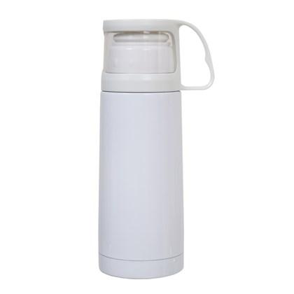 Garrafa Térmica Com Copo Branco 300ml