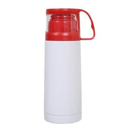 Garrafa Térmica Com Copo Vermelha 300ml