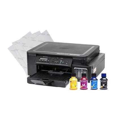 Kit Impressora A4 Brother DCP-T510W Com Tinta e Papel