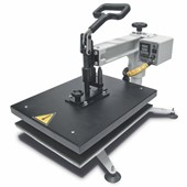 Kit Prensa Térmica Magic Machine A3 com Módulo Cilíndrico e Formas Plana, Prato e Boné