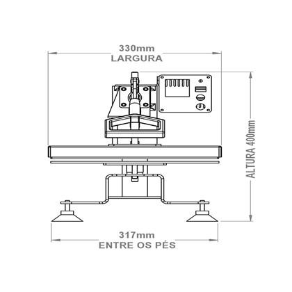 Kit Prensa Térmica para Sublimação Magic Machine A4 com Módulo Cilíndrico e Formas Plana
