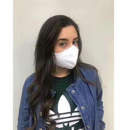 Máscara De Proteção Facial Para Sublimação - exterior Branca / Interior Bege (com 5 peças)