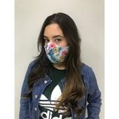 Máscara De Proteção Facial Para Sublimação - exterior Branca / Interior Bege (com 5 peças) (Com 5 unidades)