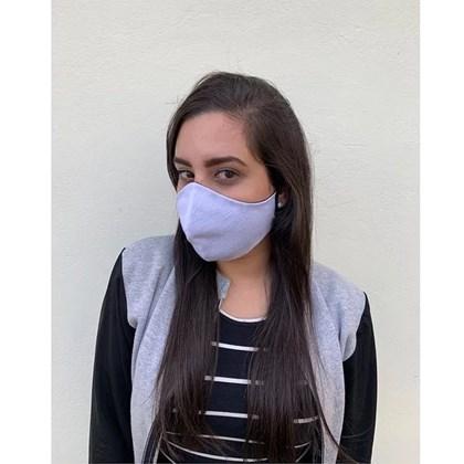 Máscara De Proteção Facial Para Sublimação (exterior Branca/ Interior Preto) (c/ 5 pc)