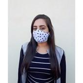 Máscara De Proteção Facial Para Sublimação (exterior Branca/ Interior Preto) (Mínimo 5 pç) (Com 5 unidades)