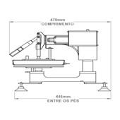 Prensa Magic Machine A4 com Módulo Cilíndrico e Kit Formas Plana, Prato e Boné