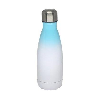 Squeeze Inox degrade Azul Ciano 500ml