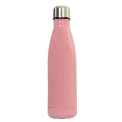 Squeeze Térmica para sublimação de INOX Rosa 450ml