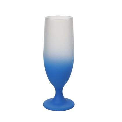 Taça Cerveja Jateado Degrade Azul Para Sublimação (Com 6 unidades)
