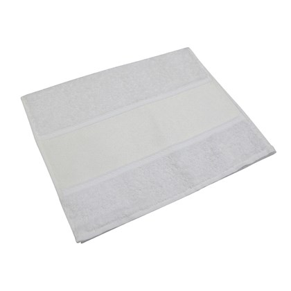 Toalha de Lavabo Luxo Branca 0,30x0,50m
