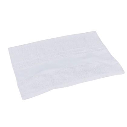Toalha De Rosto Luxo Branca 0,70x0,48m